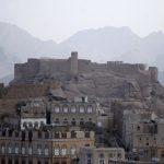 View of the historical Radda castle, overtaken by al Qaeda militants, southeast of Yemeni capital Sanaa