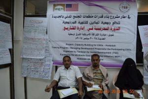 DSC 7616 300x200 جمعية تمكين تدرب منظمات المجتمع المدني حول كيفية إدارة المشاريع بالحديدة