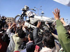 GGالدراجات النارية 300x225 نقابة الدراجات النارية تشيع الموترات في مهرجان احتجاجي وسط العاصمة