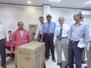 mtabaat1 300x224 افتتاح ووضع الحجر الأساس لـ(7) مشاريع في قطاع البريد بالحديدة