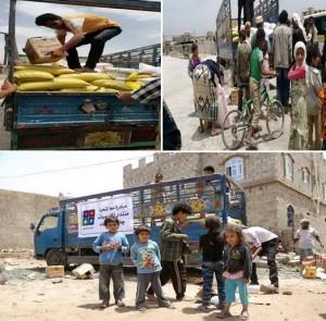 unnamed 3 300x295 صنعاء : 130 أسرة محتاجة تستفيد من حملة إغاثية نفذها فريق مبادرة (معا لنحيا)